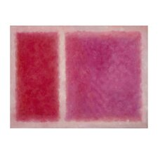 Patchwork Painting Print on Canvas in Pink