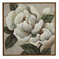 Magnificent Magnolia Framed Painting Print on Canvas