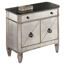 Borghese Small Mirrored 1 Drawer Chest
