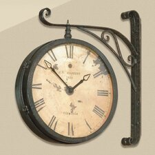 Victorian RR Clock - Black w/Copper Rub