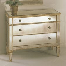 <strong>Bassett Mirror</strong> Borghese Mirrored 3 Drawer Hall Chest