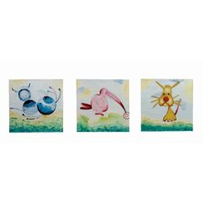 <strong>Bassett Mirror</strong> Kid Time Canvas (Set of 3)