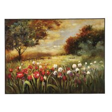 Spring Fields Original Painting on Canvas