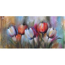 Tulip Impressions Original Painting on Canvas
