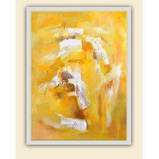 Jaune Tourbillon Original Painting on Canvas