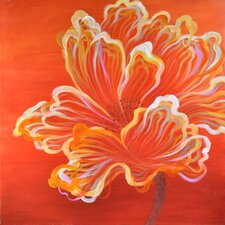 Orange Expression Original Painting on Canvas