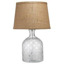 "Cut Glass Jar 19.5"" H Table Lamp"