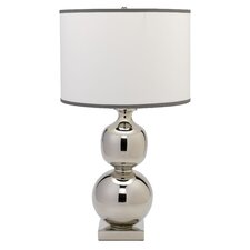 "Double Ball 29.5"" H Table Lamp with Drum Shade"