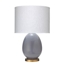 """Small Egg 20"""" H Table Lamp with Drum Shade"""
