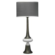"French 40 35"" H Table Lamp with Drum Shade"