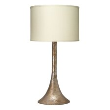 """Hammered Metal 33.5"""" H Table Lamp with Drum Shade"""