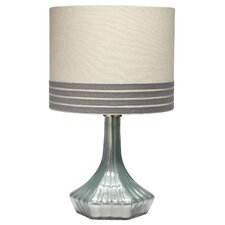 """Swoon 19"""" H Table Lamp with Banded Drum Shade"""