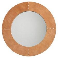 Cross Stitch Buff Leather Mirror