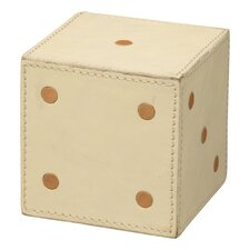 Decorative Leather Dice Ottoman (Set of 2)