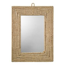 "Jute 33"" H x 25.5"" W Rectangular Mirror"