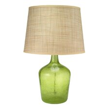 Seeded Glass Jar Table Lamp