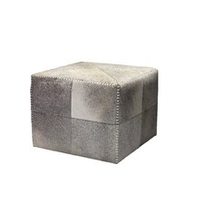 <strong>Jamie Young Company</strong> Cross Stitch Leather Cube Ottoman