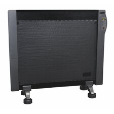 1,500 Watt Convection Flat Panel Mountable Miathermic Space Heater with Digital Display and Remote