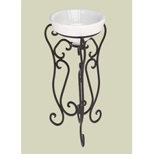 Granada Wrought Iron Pedestal with Bali Hai Vessel Bathroom Sink