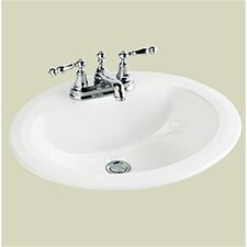 Marathon Center Oval Bathroom Sink