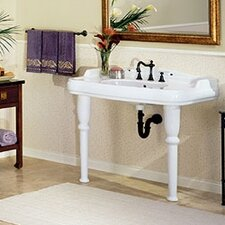 <strong>St Thomas Creations</strong> Old Antea Grande Console Bathroom Sink with China Straight Legs