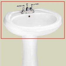 "<strong>St Thomas Creations</strong> Stafford 4"" Center Medium Pedestal Sink Basin"