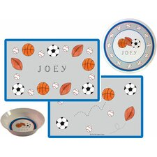 The Kids Tabletop Sports Fan Place Setting (Set of 3)