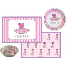 Kids Tabletop Ballerina Plate and Placemat Set