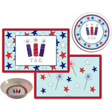 The Kids Tabletop Firecrackers Place Setting (Set of 3)