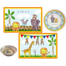 The Kids Tabletop Zoo Friends Place Setting (Set of 3)