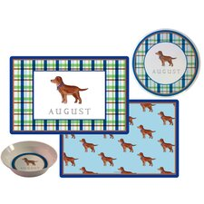 Kids Tabletop Best Friend Plate and Placemat Set