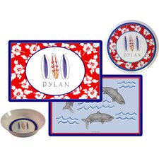 The Kids Tabletop Surfer Dude Place Setting (Set of 3)