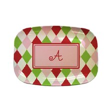 "Everyday Tabletop 14"" Harlequin Rectangular Platter"