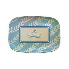 "Everyday Tabletop 14"" Blue Vines Rectangular Platter"