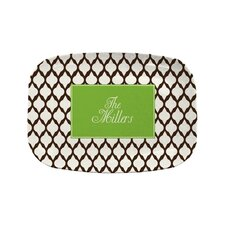 "Everyday Tabletop 14"" Brown Lattice Platter"
