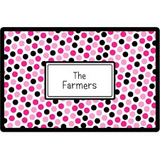 Everyday Tabletop Pink Black Dots Placemat
