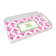 Everyday Tabletop Pink Damask Serving Tray