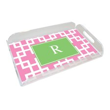 Everyday Tabletop Squared Pink Serving Tray