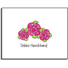 Stationery Collection Pink Peonies Folded Notes