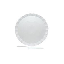 """Vanilla Fare 13.5"""" Cake Plate with Server"""