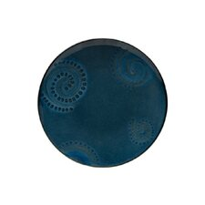 "<strong>Red Vanilla</strong> Organic Blue 11.25"" Dinner Plate (Set of 4)"