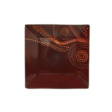 "<strong>Red Vanilla</strong> Organic Brown 10.5"" Square Dinner Plate (Set of 4)"
