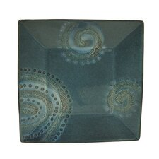 "Organic Blue 10.5"" Square Dinner Plate (Set of 4)"