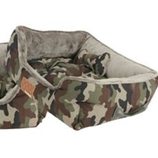 Battlefield II Reversible Camoflague Bolster Dog Bed