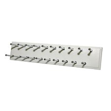 White Easy Track™ Tie Rack