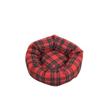 Royal Stewart Tartan Dog Cushion Bed