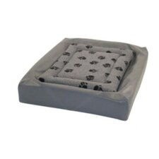 Sherpa Fleece Pet Lounger Cover in Grey