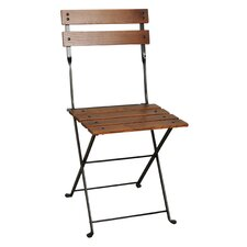 European Café Folding Side Chair (Set of 2)