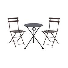 French Bistro European Café Folding 3 Piece Bistro Set
