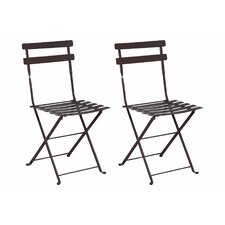 French Bistro European Café Folding Side Chair